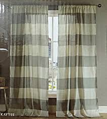 modern home wide stripes curtains 2 panels extra wide 76 x 96