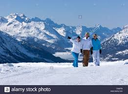100 Muottas Muragl Winter Walk Walk View Engadin Engadine Winter