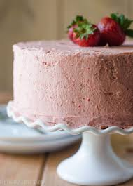 Fresh Strawberry Cake with Strawberry Buttercream Soft and fluffy cake made with fresh strawberries and