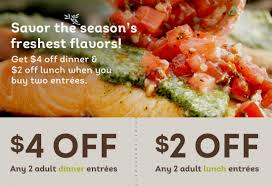 Olive Garden Coupons $4 off 2 Dinner Entrees & $2 off 2 Lunch