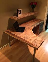 Office Dedk Rustic L Shaped Computer Desk Impressive Best Ideas On Shape