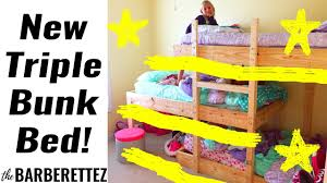 building a triple bunk bed youtube
