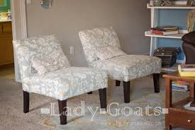 Armless Club Chair Slipcovers by Lady Goats Diy Slipper Chair Slipcover Without A Template
