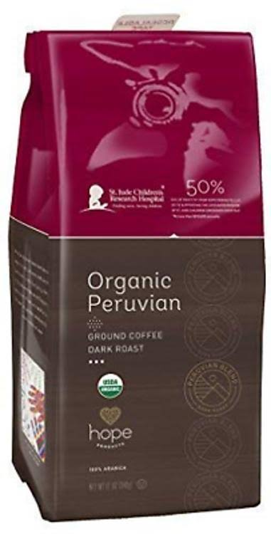 Hope Organic Peruvian Ground Coffee - Dark Roast, 12oz
