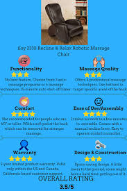 Ijoy 100 Massage Chair Manual by Best Massage Chair Reviews An Ultimate Guide