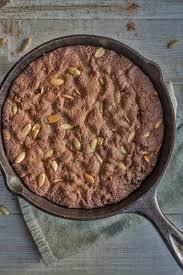 Desserts With Pumpkin Seeds by Spent Grain Skillet Cookie With Pumpkin Spice U0026 Seeds