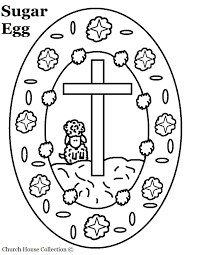 Easter Egg With Cross Coloring Page Archives New