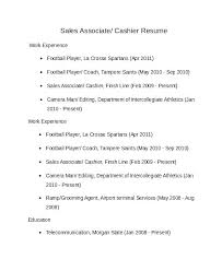 Walmart Cashier Resume Examples Plus Sample Sales Associate Samples File To