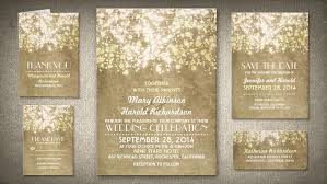 String Of Lights Vintage Rustic Wedding Invites