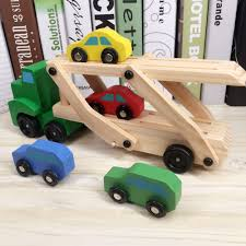 100 Toy Car Carrier Truck Vehicle S Loader Trailer Excavator Playsets Kids Wooden
