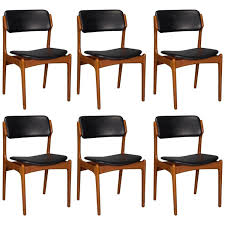 Black Leather Dining Room Chairs Unique Set 6 Model 49 Dining