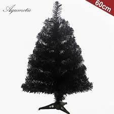 Aqumotic Black Christmas Tree Coloful Blue Pink 2ft Home Tabletop Decor Ugly