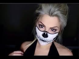 Halloween Half Mask Makeup by Skeleton Mask Makeup Tutorial Youtube