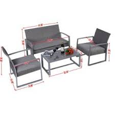 The Giantex Four Piece Patio Furniture Set Dimensions