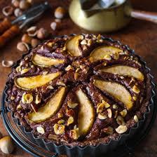 schokoladen haselnuss tarte mit birnen rezeptebuch