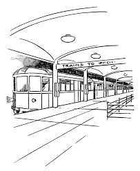 Printable Cable Car Coloring Pages Picture