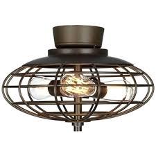 ceiling fan oil rubbed bronze industrial cage 3 40 watt ceiling