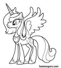 My Little Pony Coloring Pages Princess Celestia In A Dress Download