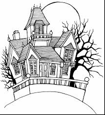 Halloween Haunted House Coloring Pages 5148