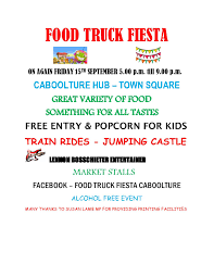Food Truck Fiesta At The Hub Caboolture On Friday September 15 Mayors Food Truck Fiesta Photo Gallery Taking A Chance At Blogging 4 Trucks Eater Dc Truckerboo Returns To Fairgrounds For Halloween Spring Set April 18 2015 New Jersey Isnt Short Avenue Elementary School A Slice Of Tampa Life Booth Hernando Connects Foodtruck Festival