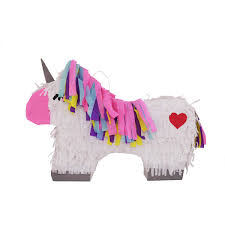 LYTIO Colorful Unicorn Pinata Full Body With Silver Details And Multicolored Hair Unicornio Piñata Ideal For Girl Birthday Parties Fairytale And