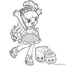 Shopkins Coloring Pages Season 6 Shoppies