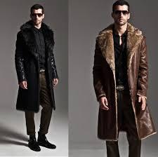 men fashion winter faux rabbit fur jacket parka outwear reversible