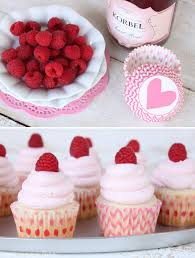 Champagne & Raspberry Cupcakes by Lauren Kapeluck
