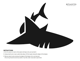 Easy Shark Pumpkin Carving by Great White Shark Clipart Pumpkin Stencil Pencil And In Color