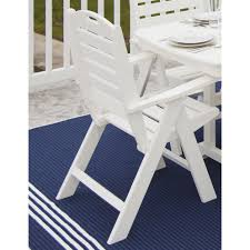 POLYWOOD® Nautical Highback Chair Rhino White Slatted Resin Fan Back Folding Chair 100 Virgin Resistant To Warping Fading High Plastic Patio Ideas Malta Outdoor Wicker Ding With Cushion By Christopher Knight Home Set Of 2 Highback Stacking Chairs Resin Patio Chair Labtimeco The Depot Luxury Fniture Highquality Kettler Lawn 16 Position Rimini Mulposition Arm Top Brands