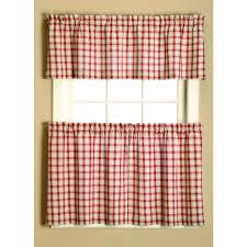 French Country Kitchen Cafe Curtains by Give Your Home A Country Style Feel With This Plaid Curtain Tier