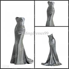 on sale 2012 silver mermaid prom dresses beaded on corset up back