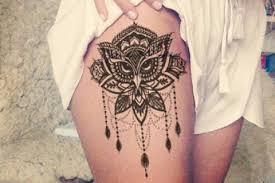 Lotus Thigh Tattoo Ideas