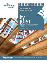 Deck Joist Hangers Nz by Chh Hyjoist Design And Installation Guide Framing Construction