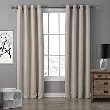 gwell oxford gardinen ösenschal vorhang mit ösen gardine für wohnzimmer schlafzimmer 8 farben 1er pack beige 260x140cm hxb