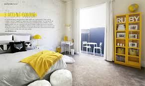 A Gray And Yellow Modern Bedroom Featured In The Feb Mar 2013 Issue Of Australias