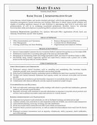 Bank Resume Samples Teller No Experience New Responsibilities For Best 22