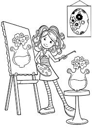 Groovy Girls Paint Flower Pot Coloring Pages Free Printable