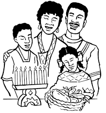 Large Family Colouring Pages