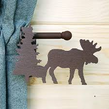 moose tree curtain rod holder with rod cabin place