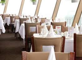 at the revolving dining room at the skylon tower with the canadian