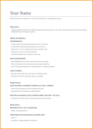 Waiter Resume Samples Waitress Examples Sample For Server Cv Example No Experience Practicable More
