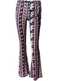 Wink Gal Women Bell Bottom Printed Boho Flare Long Yoga Wide Leg Pants