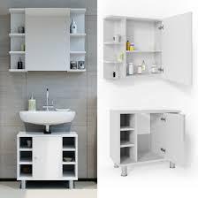 vicco badmöbel set fynn 2 teile weiß hochglanz badezimmer spiegel badunterschrank bad badschrank