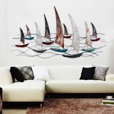 100 Decorated Wall Decoration MEIDUO Mediterranean Sailboat Threedimensional Iron
