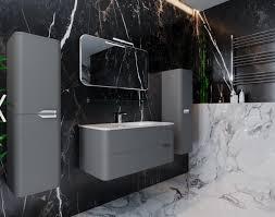 badmöbel set badezimmermöbel farbe grau vormontiert