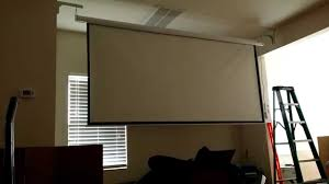 homegear 120 hd motorized 16 9 projector screen w remote control