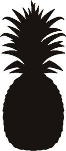 Pineapple silhouette clip art Download free versions of the image