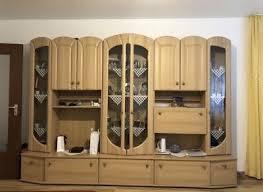 robuste klassische wohnwand wohnzimmerschrank in eiche eur