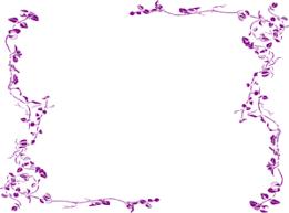 Purple Wedding Borders Clip Art